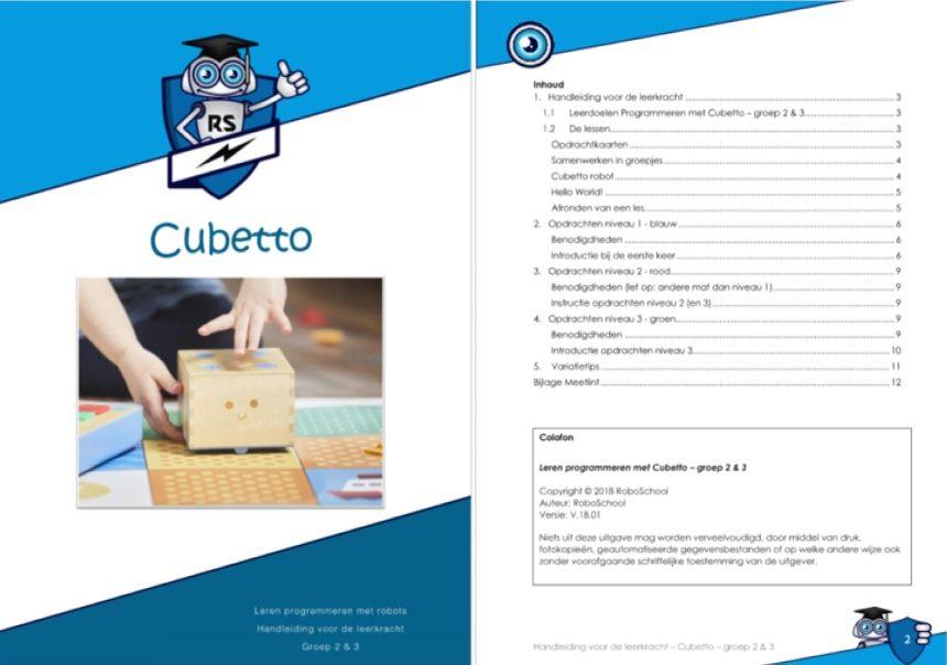 Voorbeeld programmeerles Cubetto